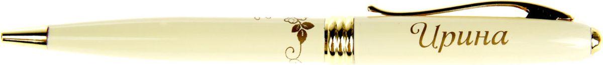 Ручка шариковая Ирина синяя 865594865594Хотите сделать по-настоящему индивидуальный подарок? Тогда вам непременно понравится стильная и удобная именная шариковая ручка Ирина. Выполненная в неповторимо нежном цветовом сочетании пастельного и золотого оттенков, она прекрасно дополнит образ своей обладательницы. А имя, выгравированное уникальным художественным шрифтом, придает изделию изысканность и шарм! Поворотный механизм надежен и удобен в повседневном использовании – ручка не откроется случайно и не оставит синих чернильных пятен на одежде. Очаровательная коробочка с красочным цветочным принтом закрывается на скрытую магнитную кнопочку.