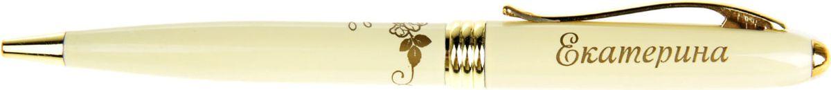 Ручка шариковая Тайна имени Екатерина865598Хотите сделать по-настоящему индивидуальный подарок? Тогда вам непременно понравится стильная и удобная именная ручка. Выполненная в неповторимо нежном цветовом сочетании пастельного и золотого оттенков, она прекрасно дополнит образ своей обладательницы. А имя, выгравированное уникальным художественным шрифтом, придает изделию изысканность и шарм!Поворотный механизм надежен и удобен в повседневном использовании - ручка не откроется случайно и не оставит чернильных пятен на одежде.Очаровательная упаковка с красочным цветочным принтом закрывается на скрытую магнитную кнопочку.