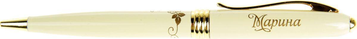 Ручка шариковая Тайна имени Марина синяя865604Хотите сделать по-настоящему индивидуальный подарок? Тогда вам непременно понравится стильная и удобная именная . Выполненная в неповторимо нежном цветовом сочетании пастельного и золотого оттенков, она прекрасно дополнит образ своей обладательницы. А имя, выгравированное уникальным художественным шрифтом, придает изделию изысканность и шарм! Поворотный механизм надежен и удобен в повседневном использовании – ручка не откроется случайно и не оставит синих чернильных пятен на одежде. Очаровательная коробочка с красочным цветочным принтом закрывается на скрытую магнитную кнопочку.