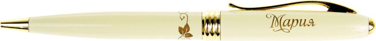 Ручка шариковая Тайна имени Мария865606Хотите сделать по-настоящему индивидуальный подарок? Тогда вам непременно понравится стильная и удобная именная ручка. Выполненная в неповторимо нежном цветовом сочетании пастельного и золотого оттенков, она прекрасно дополнит образ своей обладательницы. А имя, выгравированное уникальным художественным шрифтом, придает изделию изысканность и шарм!Поворотный механизм надежен и удобен в повседневном использовании - ручка не откроется случайно и не оставит чернильных пятен на одежде.Очаровательная упаковка с красочным цветочным принтом закрывается на скрытую магнитную кнопочку.
