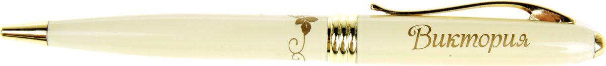 Ручка шариковая Тайна имени Виктория синяя865610Хотите сделать по-настоящему индивидуальный подарок? Тогда вам непременно понравится стильная и удобная именная ручка Виктория. Выполненная в неповторимо нежном цветовом сочетании пастельного и золотого оттенков, она прекрасно дополнит образ своей обладательницы. А имя, выгравированное уникальным художественным шрифтом, придает изделию изысканность и шарм! Поворотный механизм надежен и удобен в повседневном использовании – ручка не откроется случайно и не оставит синих чернильных пятен на одежде. Очаровательная коробочка с красочным цветочным принтом закрывается на скрытую магнитную кнопочку.