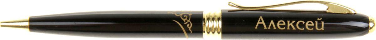 Ручка шариковая Тайна имени Алексей865615Хотите сделать по-настоящему индивидуальный подарок? Тогда вам непременно понравится стильная и удобная именная ручка, выполненная в эффектной черно-золотистой цветовой гамме. Она прекрасно дополнит образ своего обладателя и, без сомнения, станет излюбленным аксессуаром. А имя, выгравированное классическим шрифтом, придает изделию неповторимую лаконичность.Поворотный механизм надежен и удобен в повседневном использовании - ручка не откроется случайно и не оставит чернильных пятен на одежде.Оригинальная упаковка в стиле ретро понравится любому мужчине и сделает такой подарок еще более желанным!