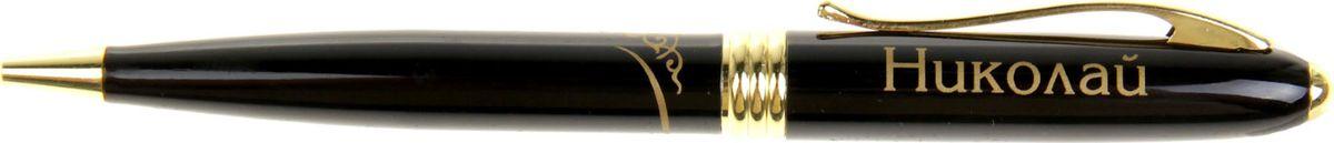 Ручка шариковая Тайна имени Николай865619Хотите сделать по-настоящему индивидуальный подарок? Тогда вам непременно понравится стильная и удобная именная ручка, выполненная в эффектной черно-золотистой цветовой гамме. Она прекрасно дополнит образ своего обладателя и, без сомнения, станет излюбленным аксессуаром. А имя, выгравированное классическим шрифтом, придает изделию неповторимую лаконичность.Поворотный механизм надежен и удобен в повседневном использовании - ручка не откроется случайно и не оставит чернильных пятен на одежде.Оригинальная упаковка в стиле ретро понравится любому мужчине и сделает такой подарок еще более желанным!