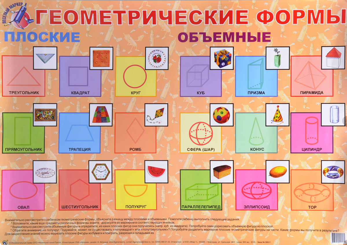 Геометрические формы. Плакат