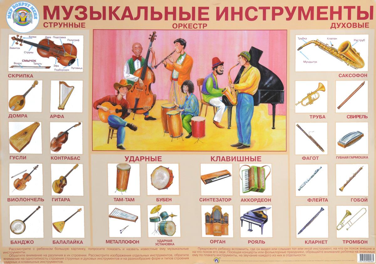 Zakazat.ru: Музыкальные инструменты. Плакат. Л. Данилова