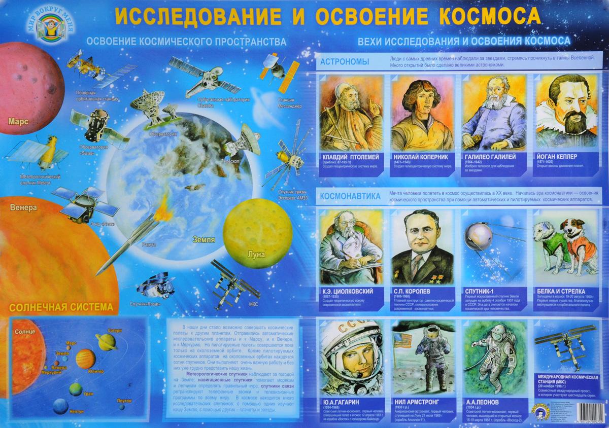 Исследование и освоение космоса. Плакат