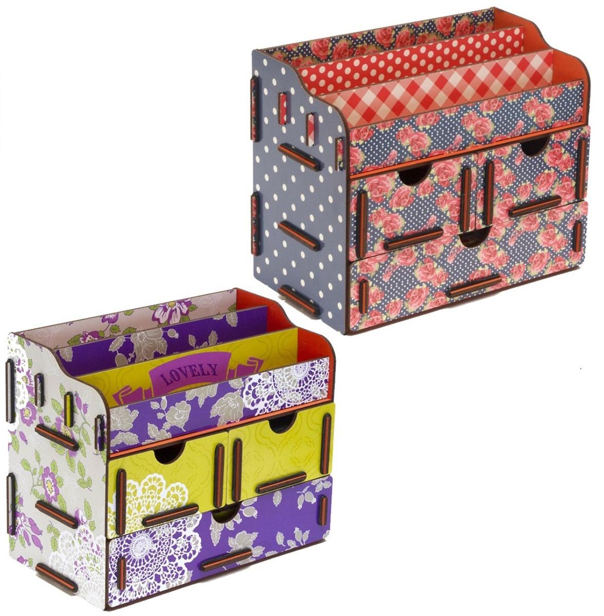 Набор шкатулок Homsu Благоухание лепестков, для украшений, 2 штDEN-05Набор Homsu Благоухание лепестков состоит из оригинальных шкатулок, выполненных из МДФ, и имеет множество полочек сверху для хранения косметики, парфюмерии и аксессуаров, а также ящички, которые позволят разместить в них все самое необходимое и сокровенное для каждой женщины. Шкатулочки можно поставить на стол, они станут отличным дополнением интерьера.