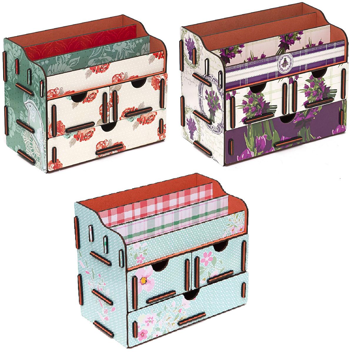 Набор шкатулок Homsu Тайна весенних бутонов, для украшений, 3 штDEN-06Набор Homsu Тайна весенних бутонов состоит из оригинальных шкатулок, выполненных из МДФ, и имеет множество полочек сверху для хранения косметики, парфюмерии и аксессуаров, а также ящички, которые позволят разместить в них все самое необходимое и сокровенное для каждой женщины. Шкатулочки можно поставить на стол, они станут отличным дополнением интерьера.