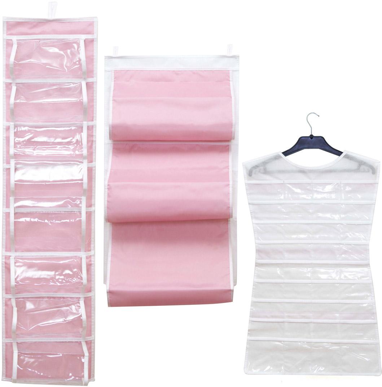 Набор подвесных органайзеров Homsu, цвет: розовый, 3 штDEN-21Набор органайзеров Homsu, выполненный из высококачественного материала, предназначен для удобного и компактного хранения различных вещей и бижутерии. В набор входят 3 органайзера: кофр подвесной для сумок, органайзер подвесной двусторонний на 16 карманов, органайзер для бижутерии и мелочей. Выбирая набор органайзеров, вы приобретаете практичное хранение вещей, стильные аксессуары для интерьера и свободное пространство.