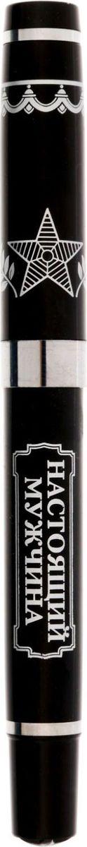 Ручка шариковая Настоящий мужчина синяя 15453081545308Ручка Настоящий мужчина в картонном конверте Практичный и очень красивый подарок. Он станет незаменимым помощником в делах, а оригинальный дизайн будет радовать своего обладателя и поднимать настроение каждый день. Преимущества: картонный футляр-откртыка с местом для поздравления дизайнерская ручка. Такой аксессуар станет отличным подарком для друга, коллеги или близкого человека.