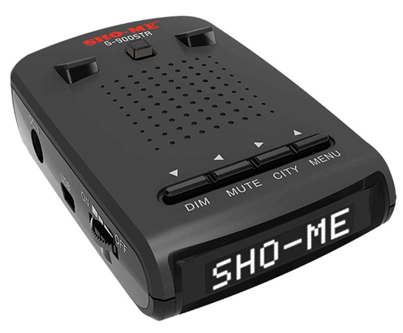 Sho-Me G-900 STR радар-детектор (белая подсветка экрана)G-900 STR WHITESho-Me G-900 STR - универсальный радар-детектор нового поколения со встроенной GPS-антенной, который детектирует все виды сигналов полицейских радаров, включая систему Автодория и Стрелка СТ/М. Благодаря GPS-модулю он видит стационарные измерители скорости до 1500 метров от автомобиля!Детектирование всех радаров, работающих в диапазонах К, Х, Ka, Ku, LaserОбнаружение Стрелки за 1200 м обновленным встроенным модулемИнформативный увеличенный OLED-дисплейОпределение силы сигнала обычных радаров и СтрелкиУникальный режим Город 2Чипсет SIRF для GPS-модуляФункция OTG (On-The-Go) - обновление баз камер и ПО без подключения радар-детектора к компьютеруПульт дистанционного управления и ИК-приемник для приема сигналаУвеличенная чувствительность лазераОпределение типа камеры и лимита скорости на контролируемом участке