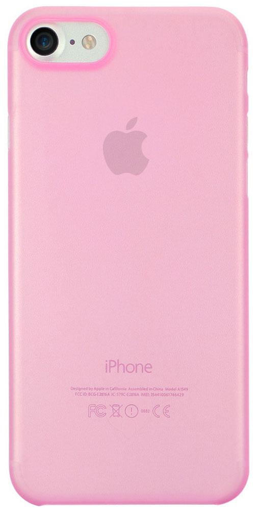 Ozaki O!coat 0.3 Jelly чехол для iPhone 7/8, PinkOC735PKЧехол Ozaki O!coat 0.3 Jelly для Apple iPhone 7 предназначен для защиты корпуса смартфона от механических повреждений и царапин в процессе эксплуатации. Имеется свободный доступ ко всем разъемам и кнопкам устройства. Толщина чехла составляет 0,3 мм.