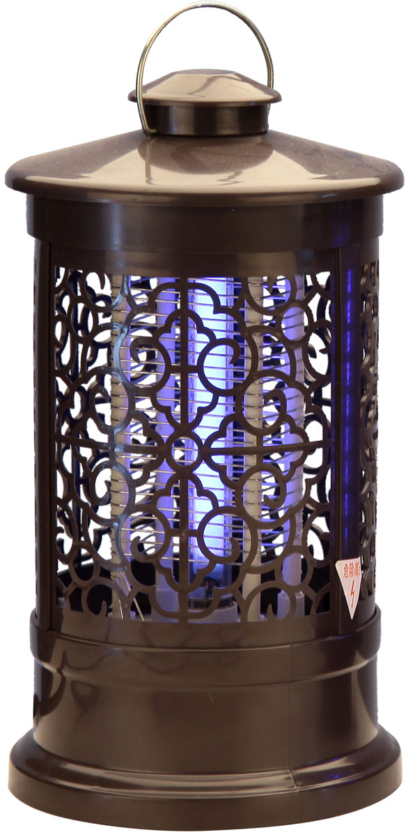 Лампа антимоскитная  Proffi Home , цвет: коричневый, 3 Вт, 13,5 х 13,5 х 24 см - Защита от вредителей
