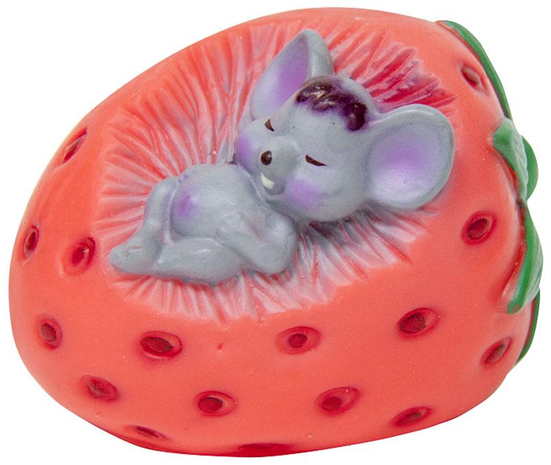 Игрушка для собак Зооник Мышь в клубнике, цвет: розовый, 7,5 см164100Игрушка для собак Зооник Мышь в клубнике отличается оригинальным дизайном. Рельефная поверхность игрушки массирует десны, что способствует профилактике заболеваний полости рта. Высококачественный материал игрушки поможет ей прослужить дольше.