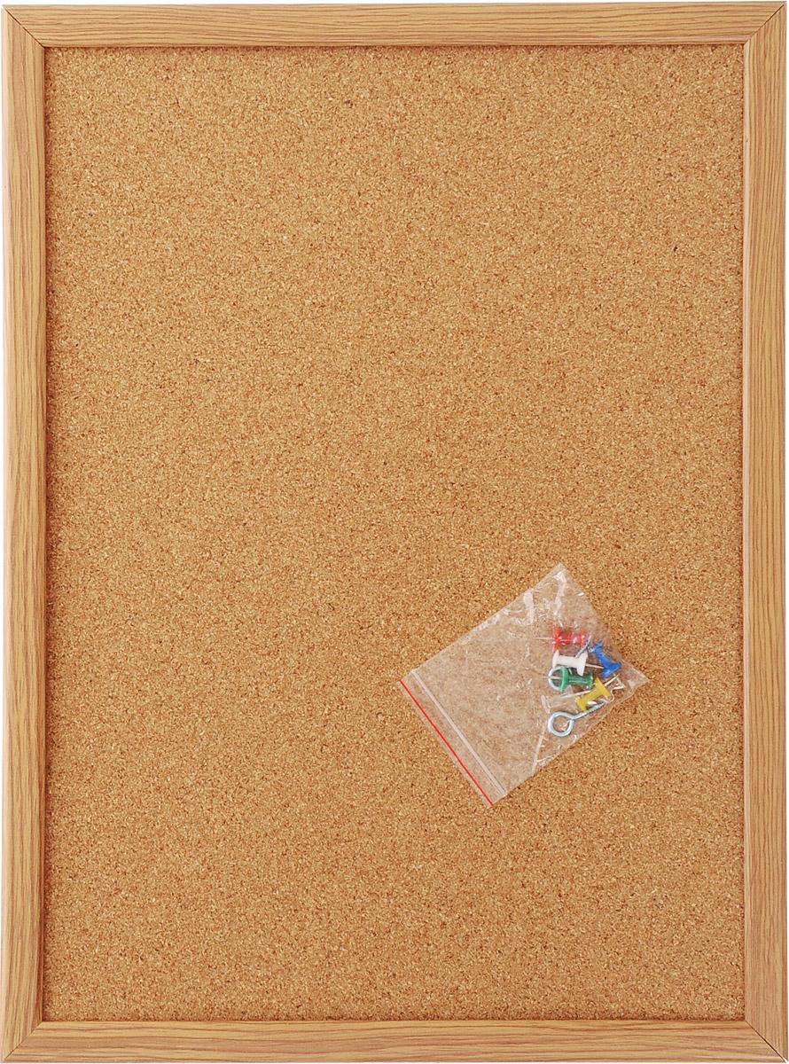 Доска пробковая  Magnetoplan , с деревянной рамкой, цвет: светло-коричневый, 40 см х 30 см -  Доски