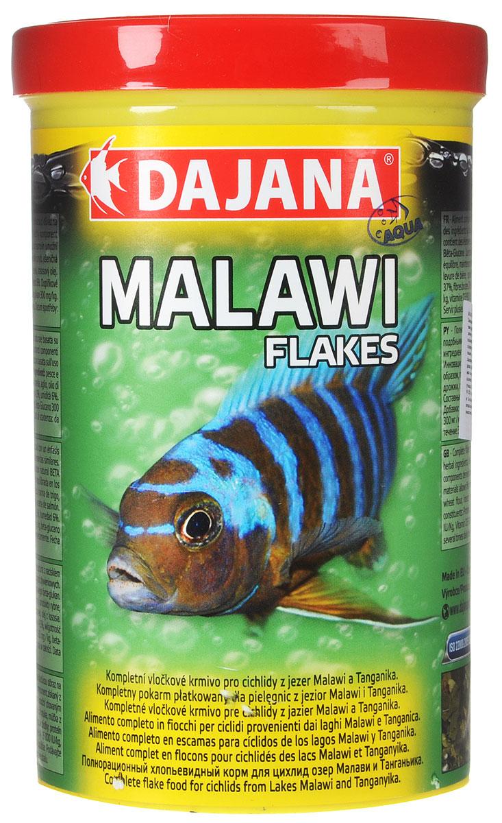 Корм для рыб Dajana Malawi Flakes, для цихлид озер Малави и Танганьика, 1 л (200 г)DP015D0Корм для рыб Dajana Malawi Flakes - полнорационный хлопьевидный корм для цихлид озер Малави и Танганьика, а также других видов рыб с подобными требованиями. Компонентный состав включает в себя комплекс сбалансированных растительных ингредиентов, компонентов, полученных из насекомых и рыб, а также натуральный стимулятор BETA-глюкан. Инновационная структура используемого сырья позволяет кормить рыбу сбалансированными кормами и, таким образом, поддерживать необходимую жизненную силу.Товар сертифицирован.