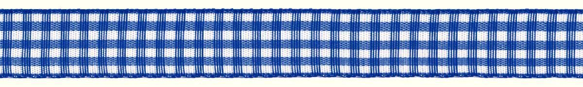 Лента декоративная Prym Клетка, цвет: белый, синий, 15 мм, 3 м907354Лента для украшения, поделок, оформления и упаковки подарков