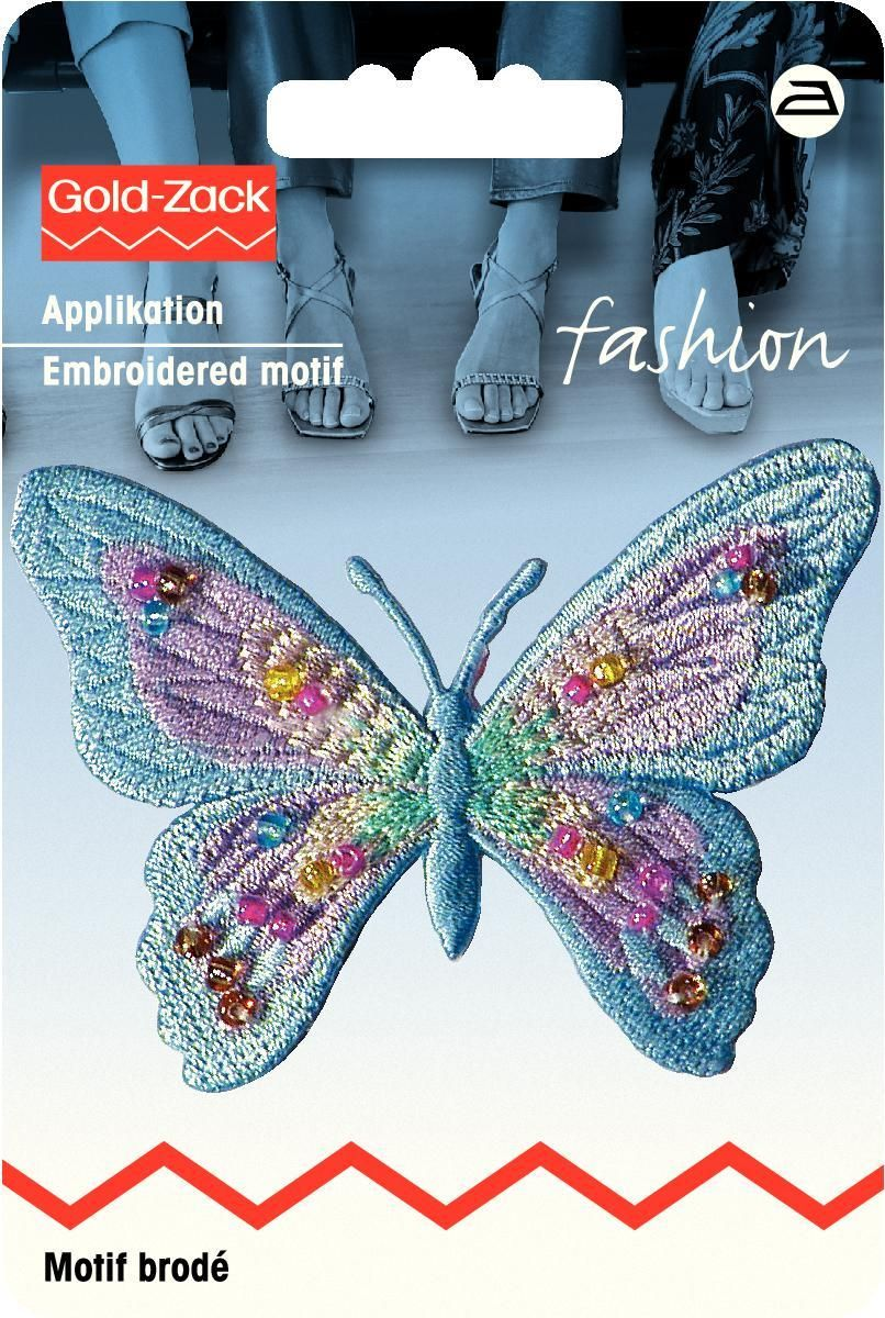 Zakazat.ru: Термоаппликация Prym Бабочка, с бусинами, цвет: голубой