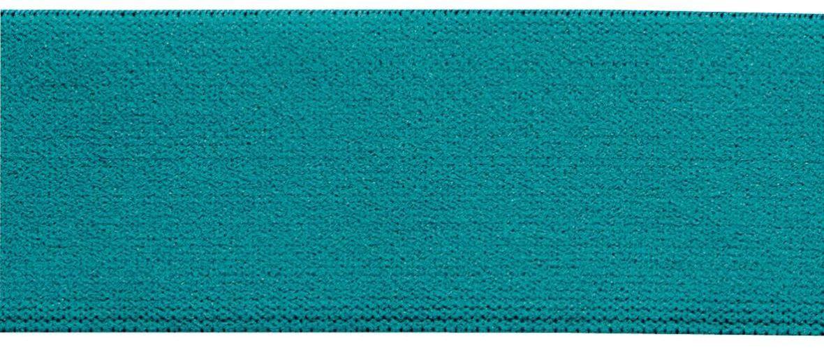 Лента-пояс эластичная Prym, цвет: бирюзовый, 38 мм, 10 м957406Для пришивания в качестве пояса