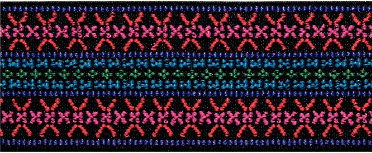 Лента эластичная Prym  Color. Узор , цвет: розовый, 50 мм, 7 м - Подарочная упаковка