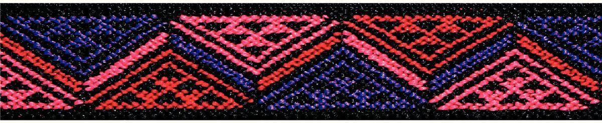 Лента эластичная Prym Color. Треугольник, 25 мм, 7 м957453Для украшения трикотажных тканей, поясов для брюк и юбок, аксессуаров и т.д.