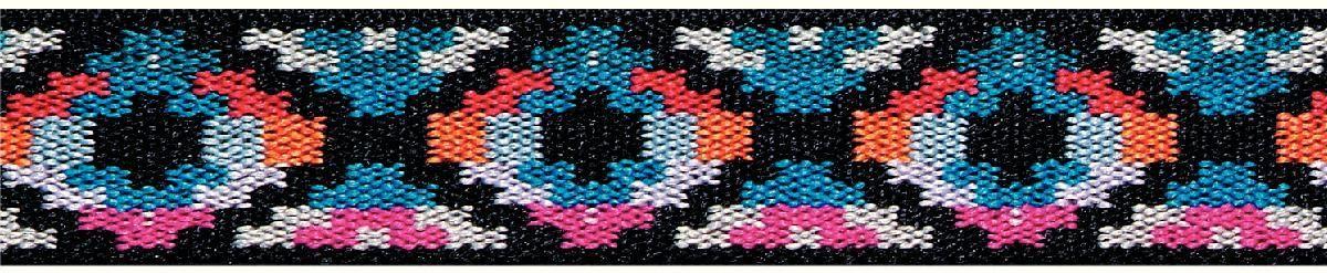 Лента эластичная Prym Color. Этно, цвет: синий, черный, 25 мм, 7 м957458Лента эластичная Prym подходит для украшения трикотажных тканей, поясов для брюк и юбок, аксессуаров, различных поделок и т.д..Ширина: 25 мм.Длина: 7 м.