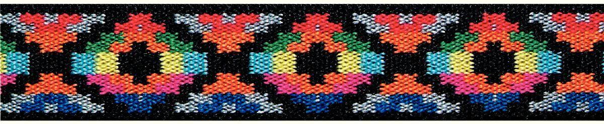 Лента эластичная Prym  Color. Этно , 25 мм, 7 м - Подарочная упаковка