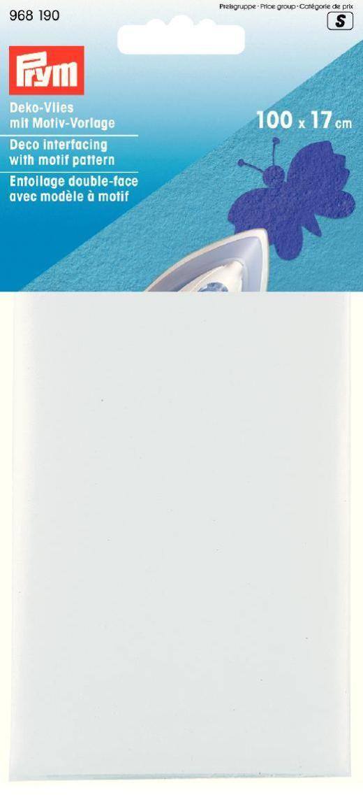 Ткань клеевая Prym, цвет: белый, 100 х 17 см968190