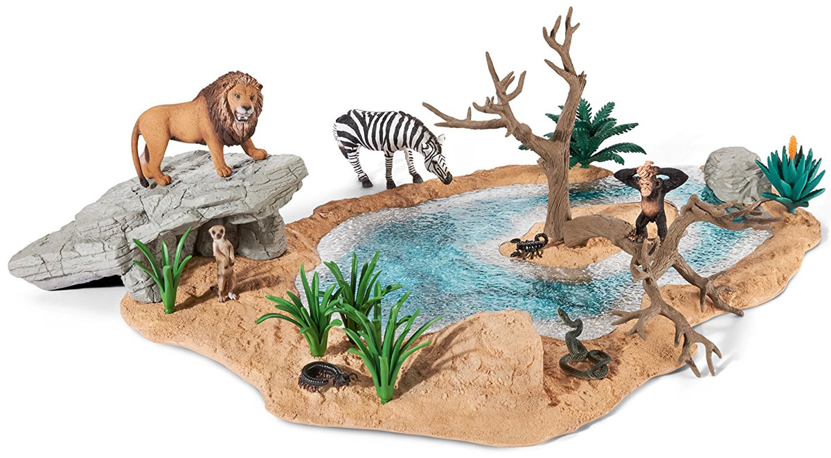 Schleich Игровой набор Водопой schleich игровой набор большая ферма с животными и аксессуарами