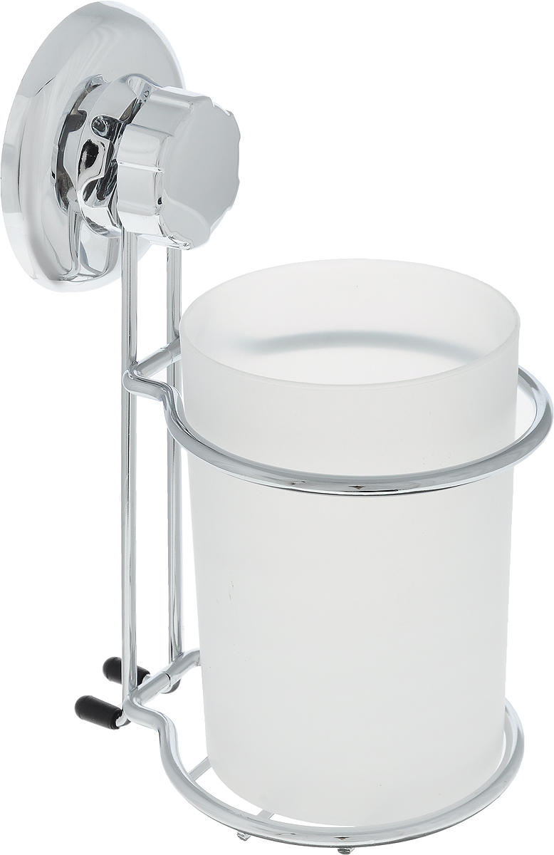 Стакан для ванной комнаты Tatkraft Ring Lock, на вакуумной присоске tatkraft mega lock