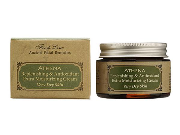 Fresh Line Крем дневной для лица для интенсивного увлажнения Афина, 50 мл910424Интенсивно увлажняющий крем обогащен греческим органическим оливковым маслом, маслами вечерней примулы и огуречника, которые обеспечивают глубокое увлажнение, восстанавливают упругость и эластичность кожи. Твердое масло оливы и масла ши в составе защищает кожу в плохих погодных условиях. Крем эффективен против негативного воздействия свободных радикалов, благодаря высокому содержанию экстракта листьев оливы. Может применяться утром и вечером. Быстро впитывается, т.к. в составе содержатся только натуральные масла и отсутствуют продукты нефтехимии. Подходит для очень сухой кожи и обезвоженной кожи.