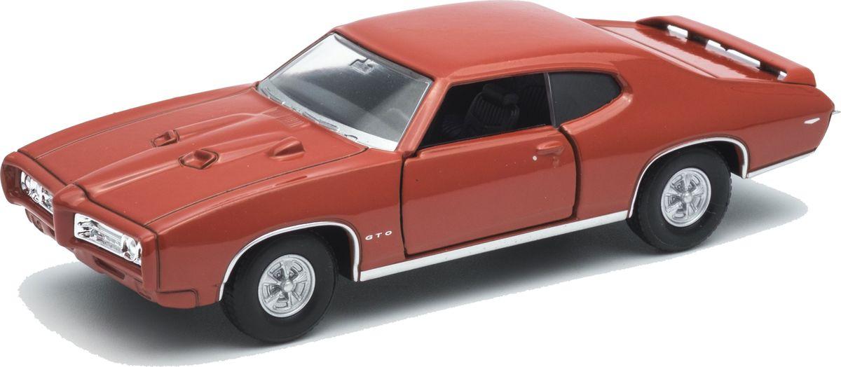 Welly Модель автомобиля Pontiac GTO цвет красный welly модель автомобиля audi q7 цвет серый