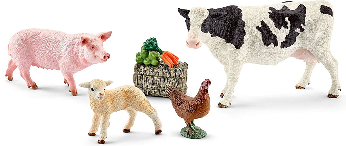 Schleich Набор фигурок Мои первые животные на ферме 4 шт игрушки животные tour the world schleich