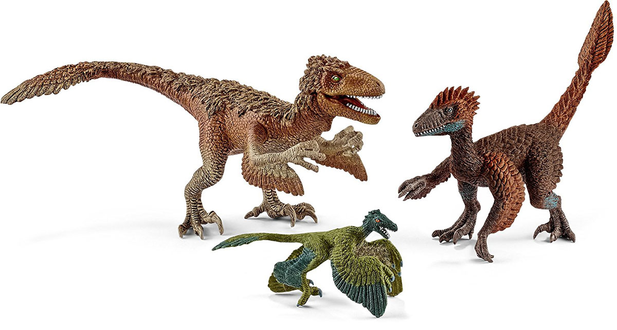 Schleich Набор фигурок Пернатые динозавры-хищники 3 шт фигурки игрушки schleich дракон летун