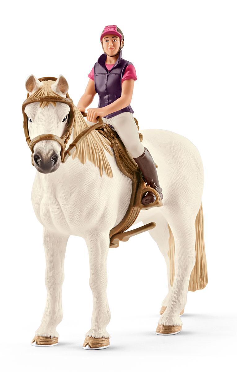 Schleich Набор фигурок Конкуристка с лошадью 42359 schleich гольштинская корова