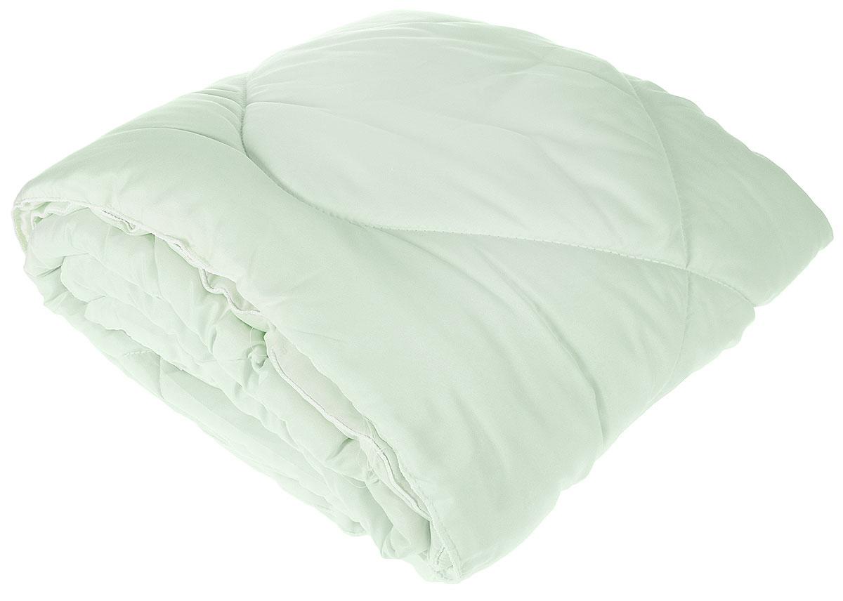 """Одеяло Lara Home """"Bamboo"""", всесезонное, наполнитель: силиконизированное волокно, цвет: зеленый, 172 х 205 см"""