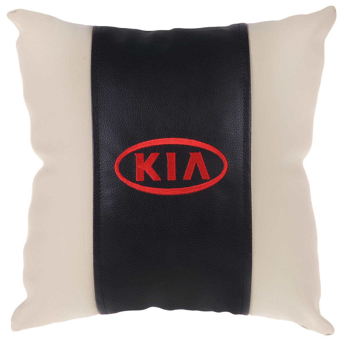 Подушка на сиденье Autoparts Kia, цвет: молочный, 30 х 30 смМ054_молочныйПодушка на сиденье Autoparts Kia создана для тех, кто весь свой день вынужден проводить за рулем. Чехол выполнен из высококачественной дышащей экокожи. Задняя часть темно-серого цвета. Наполнителем служит холлофайбер. На задней части подушки имеется змейка.Особенности подушки:- Хорошо проветривается.- Предупреждает потение.- Поддерживает комфортную температуру.- Обминается по форме тела.- Улучшает кровообращение.- Исключает затечные явления.- Предупреждает развитие заболеваний, связанных с сидячим образом жизни. Подушка также будет полезна и дома - при работе за компьютером, школьникам - при выполнении домашних работ, да и в любимом кресле перед телевизором.