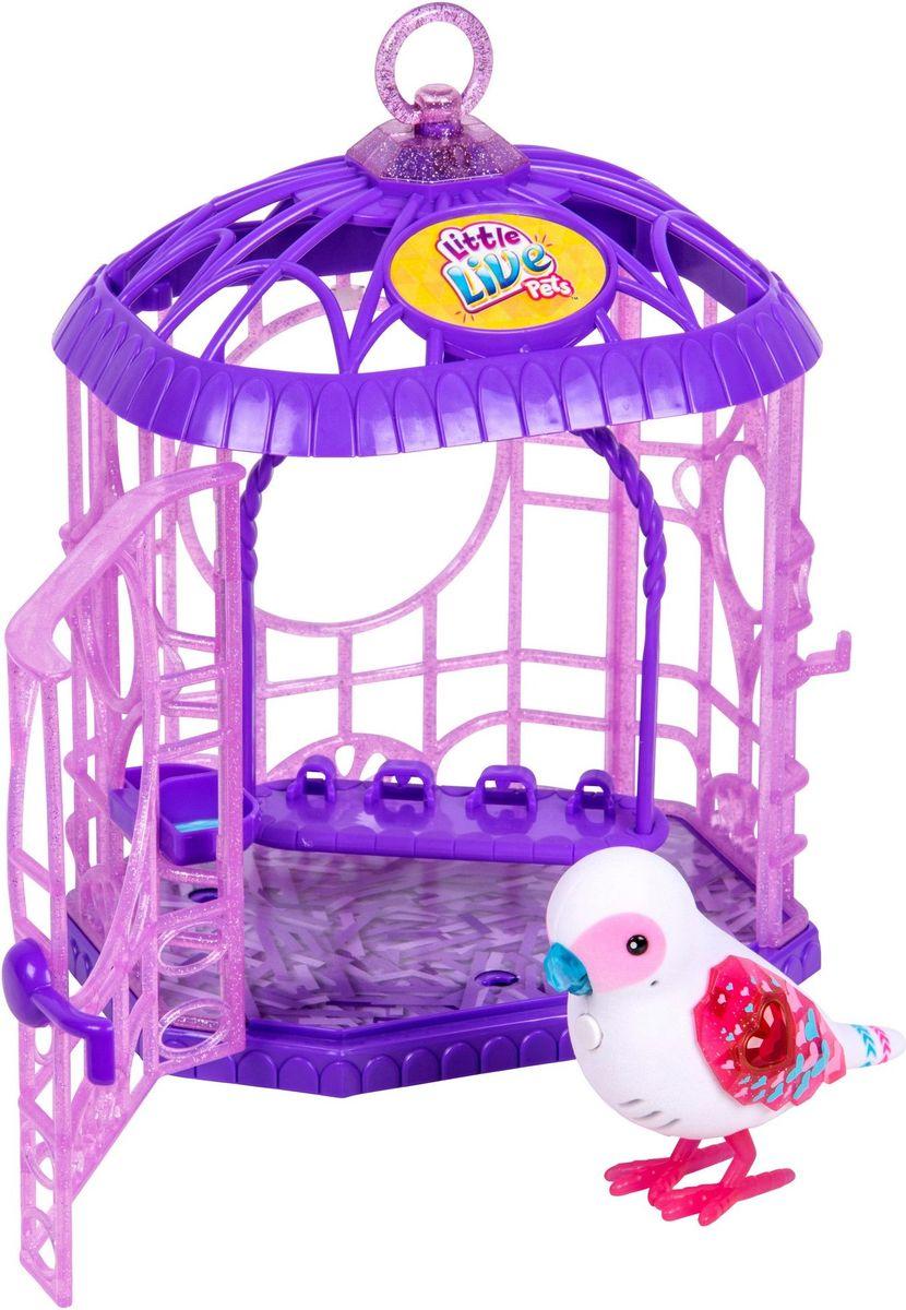 Little Live Pets Интерактивная игрушка Птичка в клетке цвет белый лев и птичка самокат