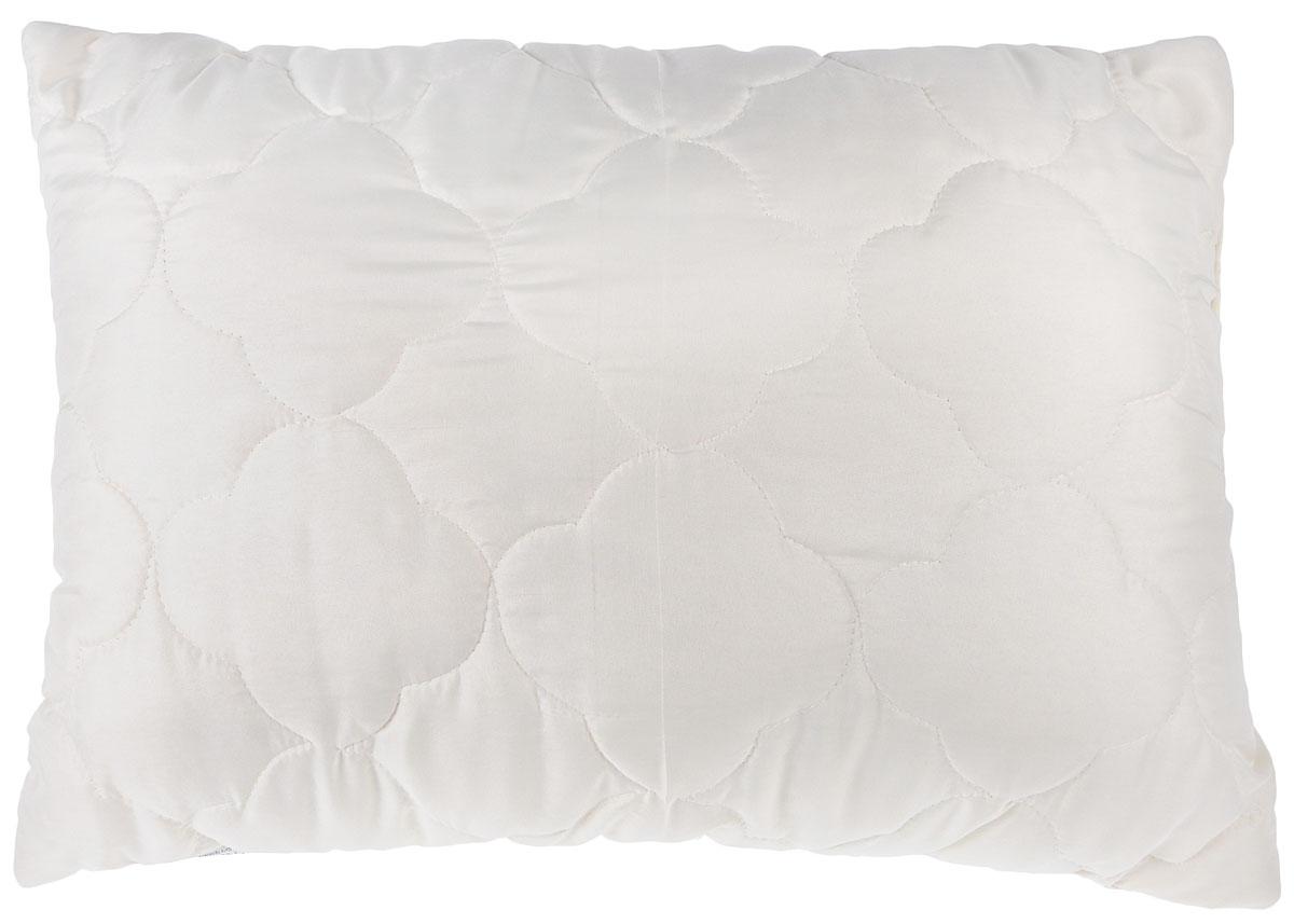 Подушка Lara Home Wool, наполнитель: овечья шерсть и силиконизированное волокно, цвет: бежевый, 48 х 68 см85273Подушка Lara Home Wool подарит комфорт и уют во время сна. Чехол,выполненный из микроволокна (100% полиэфира), оформлен фигурной стежкой и надежно удерживает наполнитель внутри. Наполнитель выполнен из силиконизированного волокна и овечьей шерсти породы меринос.Особенности подушки: Высокая воздухопроницаемость.Необычайная мягкость и легкость.Обеспечивает хорошую терморегуляцию.