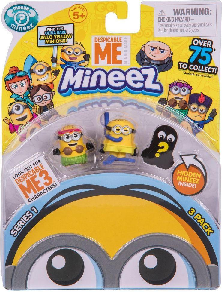 Despicable Me Набор фигурок Mineez 3 шт mymei 1 комплект 12шт набор гадкий я 2 миньоны рисунок игрушки в розницу 96408
