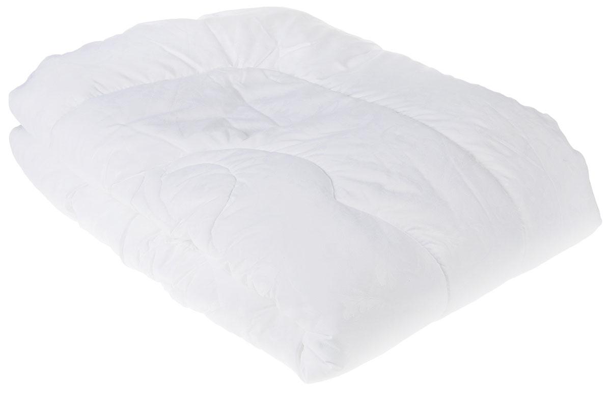 """Одеяло Lara Home """"Лебяжий пух"""", наполнитель: искусственный лебяжий пух, цвет: белый, 172 х 205 см"""