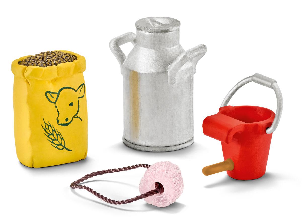 Schleich Набор аксессуаров для фигурок Корм для коров и телят schleich набор аксессуаров для фигурок корм для собак и котов