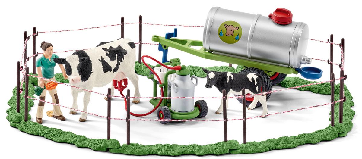 Schleich Игровой набор Семья коров на пастбище schleich корм для коров и телят