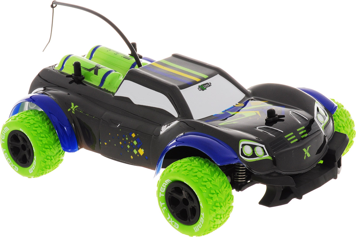 Silverlit Машина на радиоуправлении XBull цвет черный салатовый - Радиоуправляемые игрушки