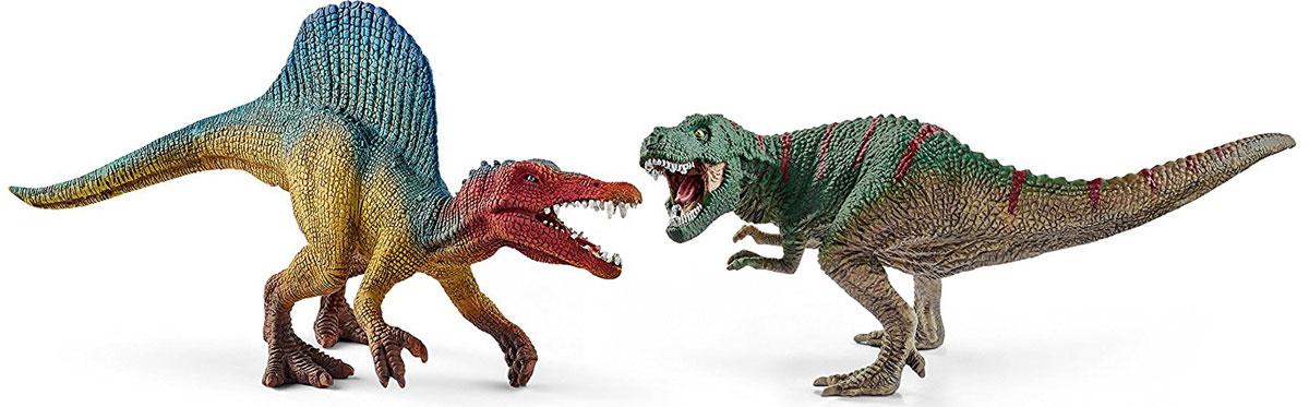 Schleich Набор фигурок Тираннозавр и Спинозавр schleich игровой набор большая ферма с животными и аксессуарами