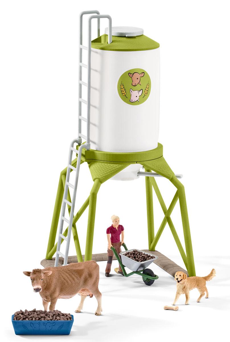 Schleich Игровой набор Силос с животными schleich корм для коров и телят
