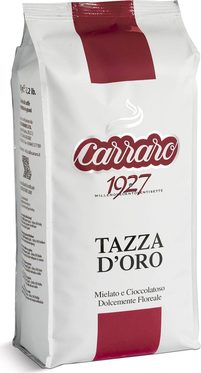 Carraro Tazza DOro кофе в зернах, 1 кг8000604001153Кофе Карраро Тазза Де Оро - натуральный жареный высший сорт, в зернах. Средняя обжарка. Арабика - 90%, Робуста - 10%.