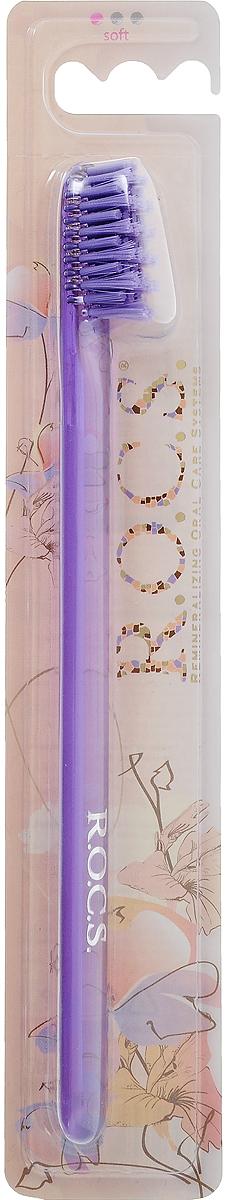 R.O.C.S. Зубная щетка модельная, мягкая, цвет: фиолетовый32700435_фиолетовыйНестандартнаяразноуровневая пострижка щетины облегчает проникновение к труднодоступным участкам полости рта и повышает качество очищения дальних зубов, небной и язычной поверхностей зубов.Уважаемые клиенты! Обращаем ваше внимание на возможные изменения цвета щетины изделия. Поставка осуществляется в зависимости от наличия на складе.