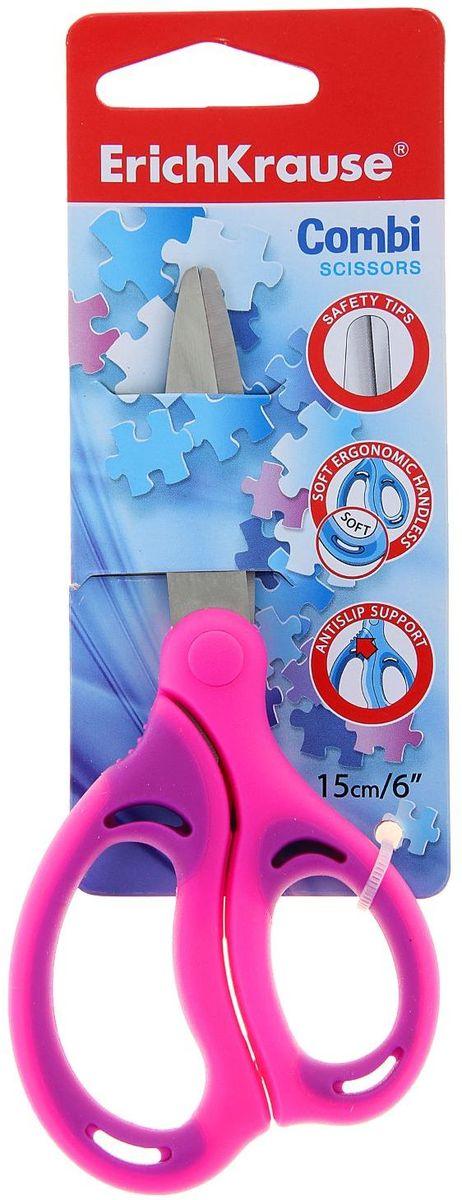 ArtBerry Ножницы Combi цвет розовый длина 15 см1132515Ножницы ArtBerry Combi изготовлены из высококачественной нержавеющей стали с безопасными закругленными концами лезвий. Эргономичные пластиковые ручки с мягкими резиновыми вставками предотвращают скольжение и натирание, обеспечивая надежную защиту для детских пальчиков.