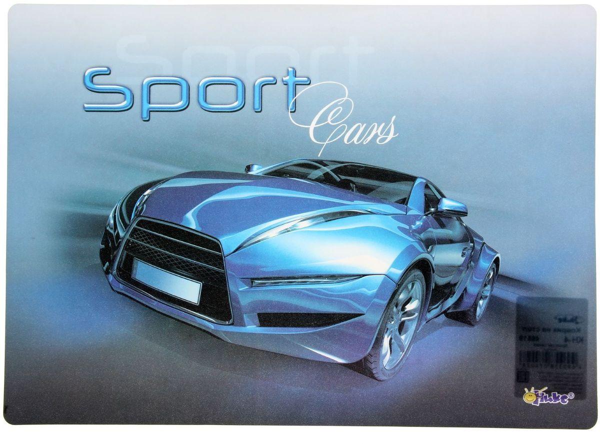 Оникс Настольное покрытие Sport Car цвет синий 33,9 х 22,4 см1383506